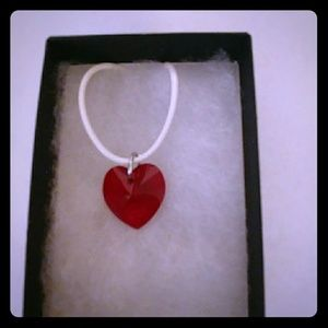 Jewelry - Rose Red Crystal Heart Necklace